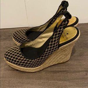Kate spade sandal wedges like new